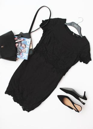 Шикарное платье из натуральной ткани marks&spencer с ажурным декором • s-m