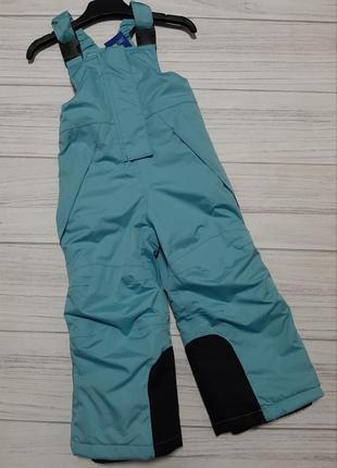 Лыжные термо штаны полукомбинезон lupilu