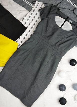 Платье футляр чехол из костюмной ткани h&m