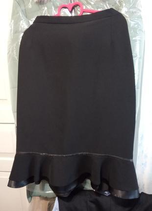 Класическая юбка с двумя воланами