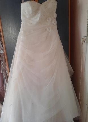 Плаття весільне колір айворі