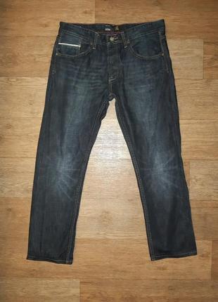 Мужские джинсы на невысокий рост, крой прямой, сезон весна-осень