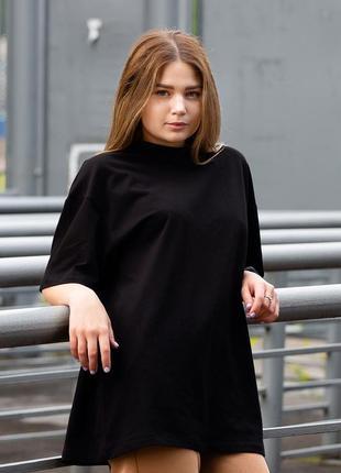Оверсайз футболка without 20 black