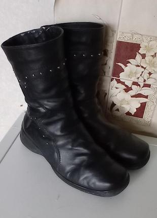 Теплые зимние кожаные сапоги полусапожки ботинки mida 38-39, натуральные