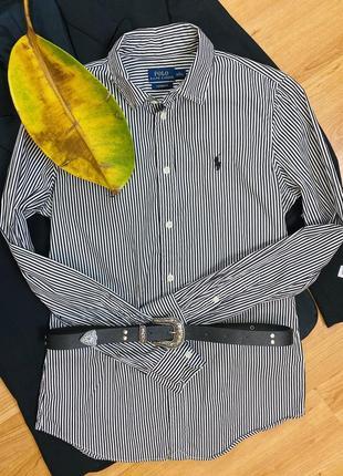 Хлопковая рубашка с вышитым логотипом