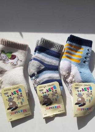Утеплені шкарпетки для хлопчика 0-24 місяці