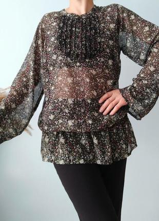 Неймовірна квіткова блузка yessica size s/l