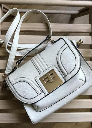Белая сумка marks & spencer