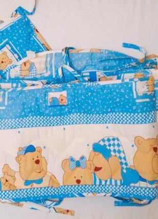 Защитный бортик бампер в кровать я немовля