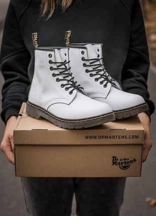 Шикарные кожаные осенние ботинки сапоги dr.martens 1460 😍(на меху)