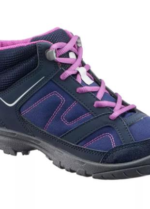 Супер легкие демисезонные ботинки quechua niking purple, р. 37