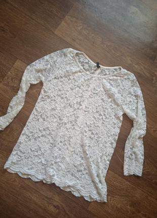 Гіпюрова блузочка amisu розмір s обмен