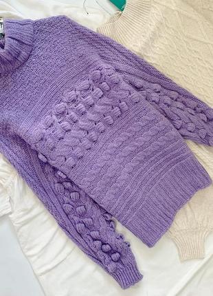 Красивый лиловый свитер george