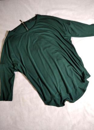 Красивая зеленая блузка лонгслив турция selekt
