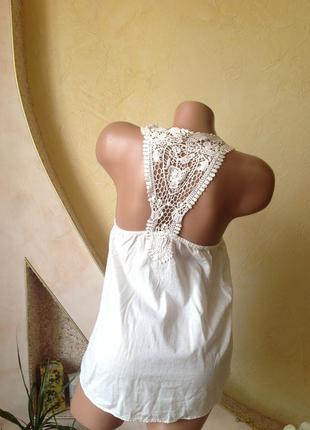 Белая легкая летняя блуза майка. акция 3-я вещь в подарок!!! с 27.05 по 31.05.