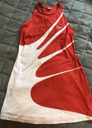 Спортивное платье сарафан fila