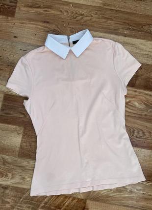 Блузка с воротником , футболка с воротником ,деловая блузка