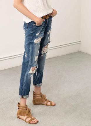Bershka мега стильні трендові джинсики р 36 стан ідеальний