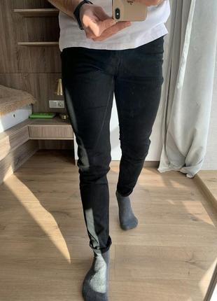 Мужские черные зауженные джинсы штаны topman