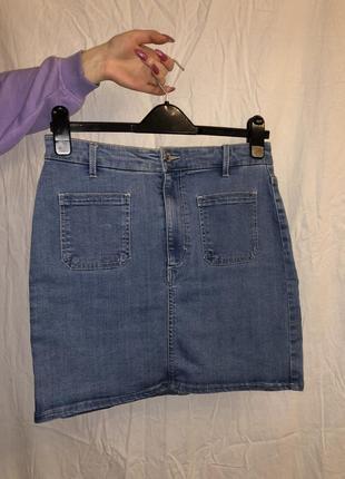 Твоя идеальная джинсовая юбка pull&bear 🐻😍 размер l