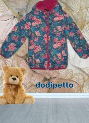 🐼🐼dodipetto итальянская теплая двухсторонняя курточка для маленькой принцессы 3а/98🐼🐼