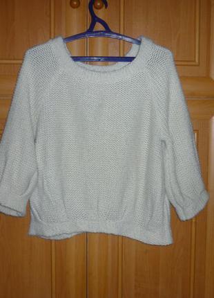 Размещается последние дни стильный свитер свитшот крупной вязки оверсайз