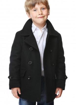 Чёрное пальто 3-5 лет, на мальчика h&m, шерсть