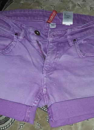 Фиолетовые шорты