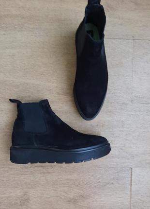 Кожаныые ботинки челси на платформе bimba y lola, 37 размер