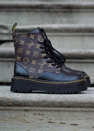 Шикарные женские зимние ботинки dr. martens jadon x lv ( premium ) з замком
