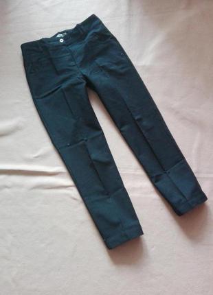 Классические брюки / черные штаны с высокой посадкой