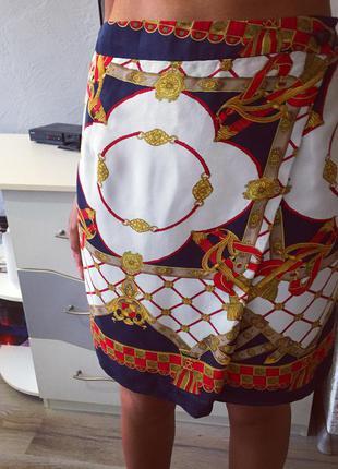 Роскошная шёлкова юбка на запахе от zara