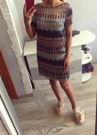 Шикарное прямое шёлковое платье next