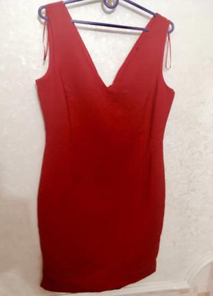 Красное платье zara,p. l
