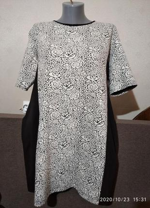 Отличное батал  трикотаж платье wallis евро 46, наш 52