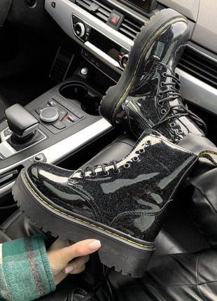 Шикарные женские осенние ботинки dr.martens galaxy ( premium ) з замком