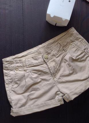 Короткие шорты в стиле сафари