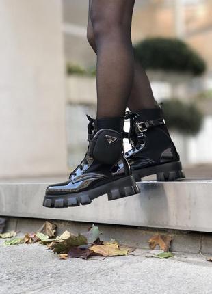 Ботинки prada monolith женские осенние