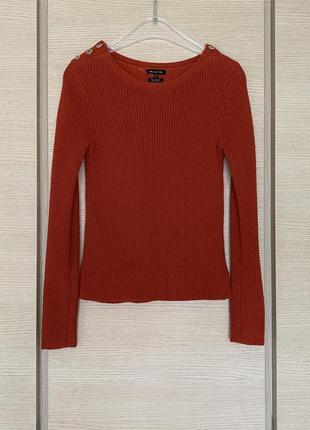 Яркий плотный пуловер размер s