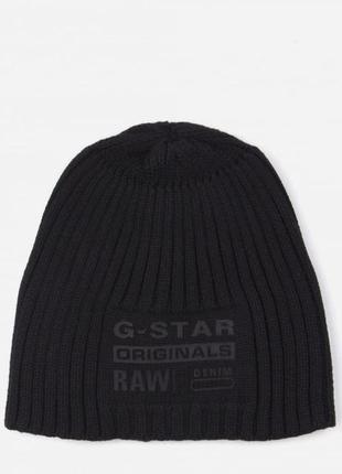Оригинальная теплая шапка  g-star raw ® curtis mens knit beanie black
