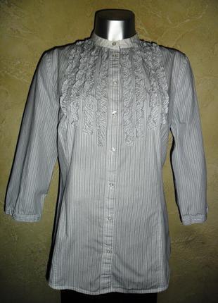 Хлопковая полосатая рубашка l 12