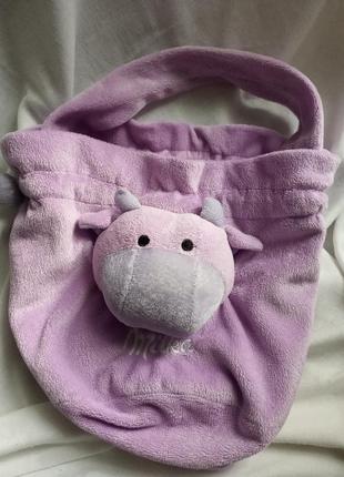 Сумка milka с коровкой фиолетовая