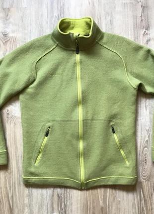Куртка треккинговая шерстяная кофта на замке походная