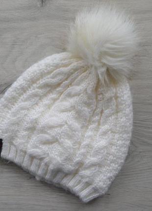 Красивая шапка  на легком флисе one  size