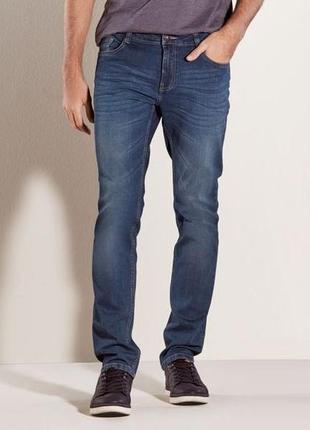 Стильные зауженные джинсы slim fit на болтах , l50 euro, (34-34), livergy, германия