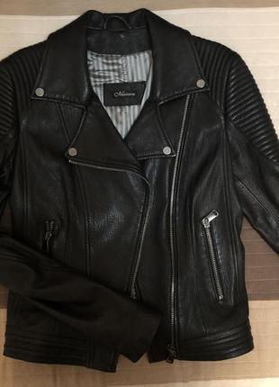 Кожаная куртка mazzarini italy ( натуральная кожа )
