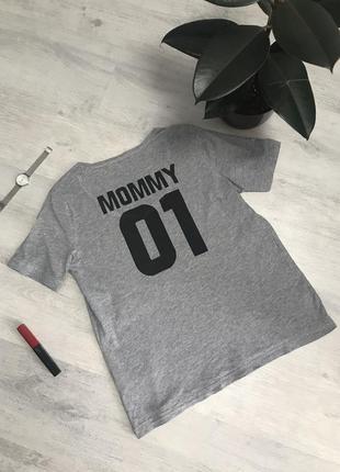 Футболка с принтом mommy