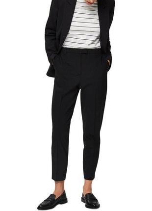 Зауженные шерстяные брюки selected femme