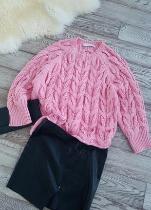 Шикарный свитер в косы оверсайз от zara