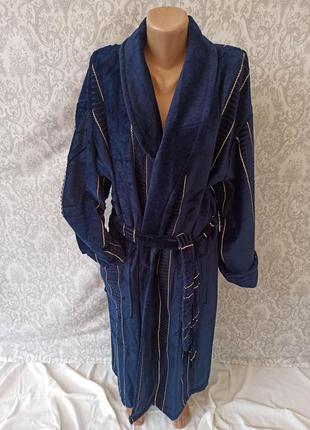 Мужские длинные теплые натуральные махровые халаты,халат теплый мужской натуральный турция